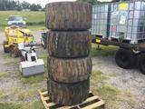 (4) SKID STEER TIRES & RIMS (31X15.50-15) R1