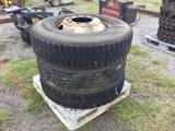 (3) TRUCK TIRES & WHEELS (11 R 22.5 ) R1