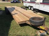 7ft X 20ft EQUIPMENT TRAILER **NO TITLE** (TANDEM 5 LUG AXLES, NO RAMPS) R1