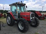 MASSEY FERGUSON 3060 CAB TRACTOR (DIESEL, 4X4, ENCLOSED CAB, HOURS READ 4088, DUAL REMOTES, 75HP,
