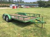 UTILITY TRAILER 75in X 16ft **NO TITLE** R1