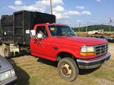 1995 FORD F450 GARBAGE TRUCK (5spd MANUAL, 7.3 POWER STROKE DIESEL, **TRUE MILES UNKNOWN**,