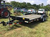 2018 BIG TEX EQUIPMENT TRAILER (7X18, 5 TON, VIN-16VEX1821J3016824) R1