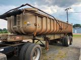 1964 FRUE HAUF ALUMINUM TRAILER (24FT, 22 TON, SINGLE CYLINDER, VIN-FWE893801) R1