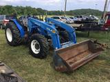 NEW HOLLAND TN75SA TRACTOR W/LOADER (DIEASEL, TRUE HRS UNKNOWN, QA BUCKET, 4X4) R1