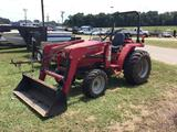 MAHINDRA 2816 TRACTOR WITH LOADER (4X4, VIN-177336, 77 HRS) R1
