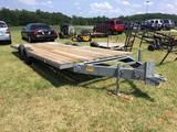 8FT X 20FT DUAL AXLE TRAILER **NO TITLE** (NEW FLOOR, 6 LUG WHEELS) R1