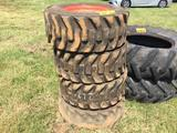 (4) SKID STEER TIRES & WHEELS-BOBCAT R1