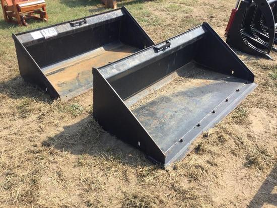 "63"" SMOOTH BUCKET FOR SKID STEER"