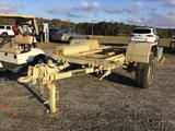 SINGLE AXLE 1 TON MILITARY CHASSIS TRAILER