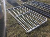 (2) METAL TUBE GATES
