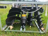 SKID STEER AUGER W/THREE BITS-SELLS ABSOLUTE TO