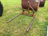 3ph HAY FORK W/TOP MOUNT 2 5/16 BALL