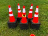 (50) SAFETY HIGHWAY CONES **SELLS ABSOLUTE