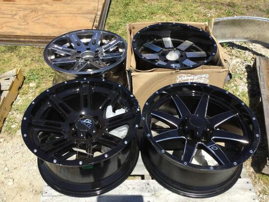 "(4) 10""X20"" RIMS (3 BLACK/1 CHROME)"