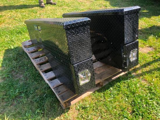 (2) UWS ALUMINUM TRUCK FENDERWELL TOOL BOXES