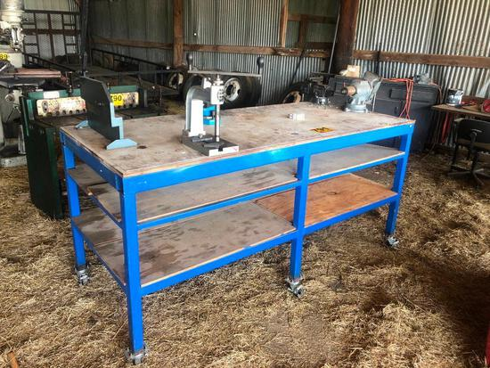 3FT X 7FT METAL FRAME WORK TABLE