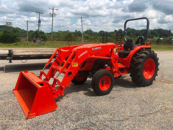 2015 KUBOTA MX4800 W/ LA1065 LOADER (DIESEL, 49HP, HRS-146, 6FT QA BUCKET, 2WD, ROPS, SN-10072)R1