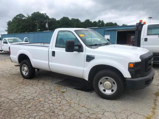 2008 FORD F250 XL SUPER DUTY PICKUP TRUCK (AT, GAS, 2WD, LONG BED, MILES READ-205473,