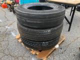 (3) TRUCK TIRES 275/80 R22.5