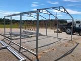 GALVANIZED METAL BUILDING FRAME APPROX 16'W X16'