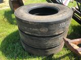 (3) 11R 33.5 TRUCK TIRES
