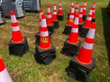 GROUP OF 50 SAFETY CONES**SELLS ABSOLUTE TO