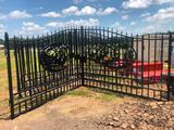 20FT BI-PARTING WROUGHT IRON GATE**SELLS ABSOLUTE