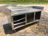 6FT STAINLESS STEEL WORK BENCH