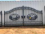 14FT BI-PARTING WROUGHT IRON GATE**SELLS ABSOLUTE