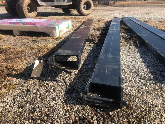 UNUSED 2020 QTY OF 2 EXTENSION FORKS (9.5FT X 7IN)