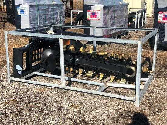 UNUSED 2020 GREATBEAR TRENCHER SKID STEER ATTACHME