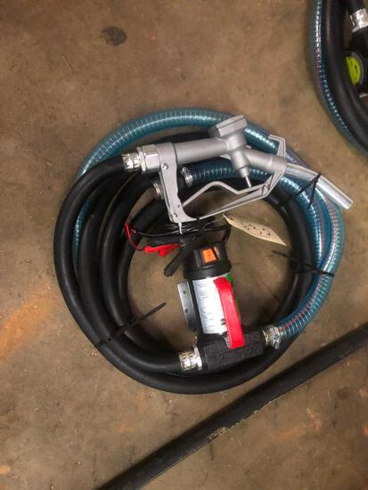 FUEL PUMP 12V W/HOSE & NOZZLE**SELLING ABSOLUTE**