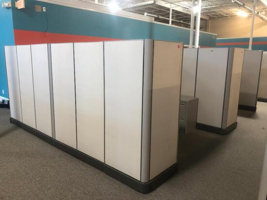 (4) ASSEMBLED CUBICLES