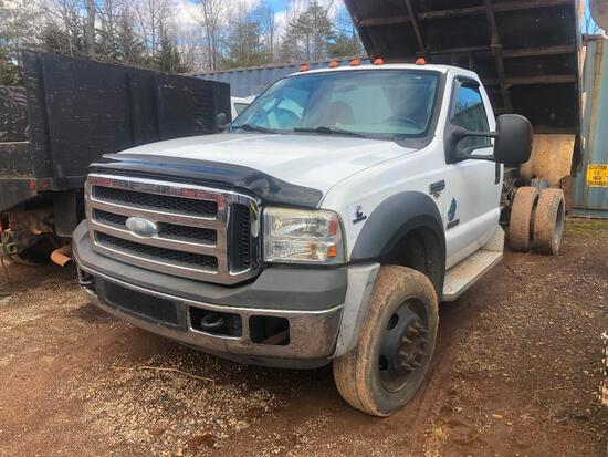 2007 FORD F-450 XLT SUPER DUTY DUMP TRUCK