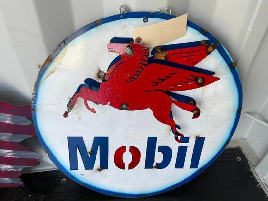 MOBIL OIL METAL SIGN