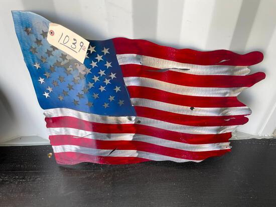 AMERICAN FLAG METAL SIGN
