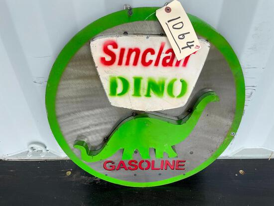 SINCLAIR DINO GASOLINE METAL SIGN