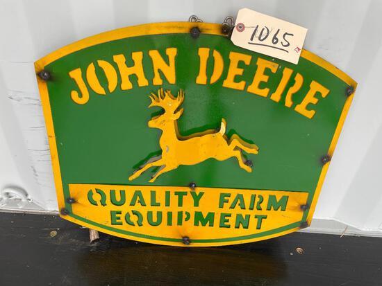 JOHN DEERE QUALITY FARM EQUIPMENT METAL SIGN