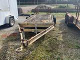 18ft TANDEM AXLE EQUIPMENT TRAILER (PINTLE HITCH)**NO TITLE**