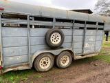 16ft STOCK TRAILER**NO TITLE**