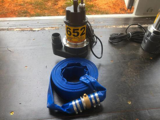 "UNUSED MUSTANG MP 4800 2"" ELECTRIC PUMP W/50' HOSE"