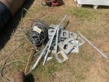 GROUP-ALUMINUM BRACKETS/ROLL OF ELECTRICAL WIRE
