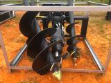 GREAT BEAR SKID STEER AUGER ATTACHMENT W/3 BITS
