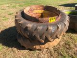 (2) 15.5-38 TRACTOR TIRES & RIMS