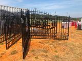 GREAT BEAR 20' BI-PARTING IRON GATES W/DEER