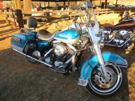 1995 HARLEY DAVIDSION ROAD KING MOTORCYCLE (VIN-1HD1FDL115Y605968, 1340 ENG
