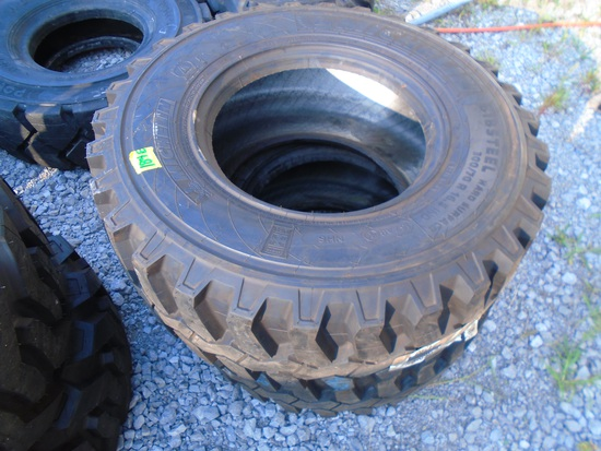 Two Michelin Bibsteel Hard Surface Tires