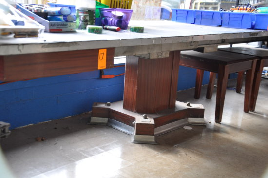 EXPANDABLE WORK TABLE WITH TWO END TABLES