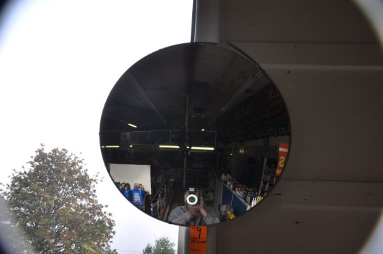 LARGE ROUND SECURITY MIRROR APPROX 24'' DIAMETER